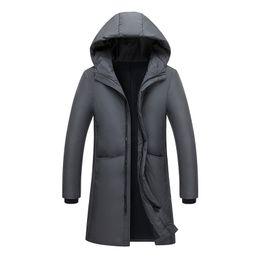 616cb1846ba89 Keep Warm Down Coat Men s Winter 70% White Duck Down Jacket Business Men  Long overcoat Casual Mens Jackets