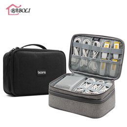Gear Doors Australia - Big Double Layer Electronics Accessories Carry Case Travel Organizer Cable Earphone Power Bank Charger Digital Gear
