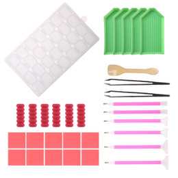 $enCountryForm.capitalKeyWord Australia - Wholesale 31Pcs Embroidery Painting Cross Stitch Tool 5D Painting Diamond Stitch Pen Kit May06
