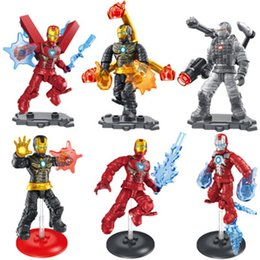 Military Modelling figures online shopping - 6 style iron man doll figure ornaments mini doll ornaments military model buiding Blocks doll ornaments M012