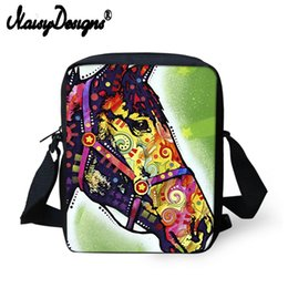 Wholesale 2019 Crazy Horse Women Messenger Bags Animal Bull Dog Greyhound Pug Printing Shoulder Scool Travel Crossbosy Bag For Girls Boys