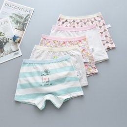 $enCountryForm.capitalKeyWord Australia - 15Pcs Lot Girls sweet print Children's underwear boxers kids underpants Suitable for 2 years to 14 year girls flat thin panties S19JS160
