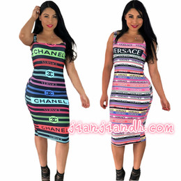 Wholesale sexy tight fits dresses for sale – plus size LM8066 fashion high end hot European and American sexy women s letter printing tight fitting hip dress