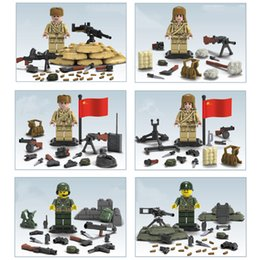 block wars Australia - WW2 The Second World War Korean War Military Mini Toy Figure Building Blocks Brick For Boy