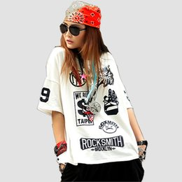 black hip hop tee top Australia - Just.be.never Hip Hop T-shirt Harajuku Punk Black White Tshirts Rock Smith Letter Print Women Summer Tees Kpop Hipster Cute Tops Y19042501