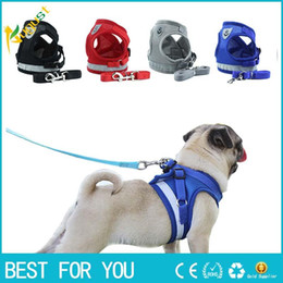 $enCountryForm.capitalKeyWord NZ - Dog Cat Harness Vest Reflective Walking Lead Leash for Puppy Dogs Polyester Mesh Harness for Small Medium Dog Pet Products