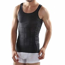$enCountryForm.capitalKeyWord UK - Cool Mens belly belt Powerful Slimming Abdomen vest Body Shaper Sculpting Compression Girdle Belley Buster Shapewear Underwear vest S-2XL