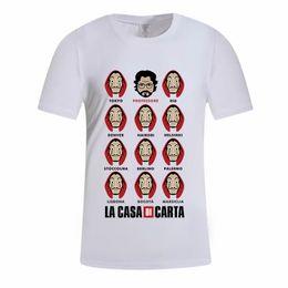 $enCountryForm.capitalKeyWord Australia - La casa di carta T-shirt Cartoon Movie Printed Women Men Professore Shirts Summer Tops Tees LJJO7103