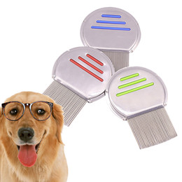 $enCountryForm.capitalKeyWord Australia - Good Factory Price Stainless Steel Pet Hair Terminator Lice Combs Dog Cat Animal Grooming Cleaning Brush Hair Density Teeth Removal Comb