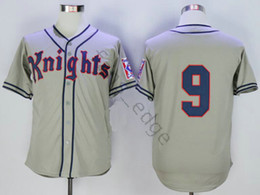 $enCountryForm.capitalKeyWord Australia - Movie New York Knights 1939 Home Jersey The Natural #9 Roy Hobbs Baseball Jersey Gray Double Stitched Shirt Size S-XXXL