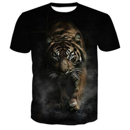 t shirt 3d men funny Australia - SOSHIRL Hip Hop 3d Tiger T shirt Men Women T-shirt Funny Cool Tees Summer Male Female Tshirts Galaxy Fierce Tiger Print Tops