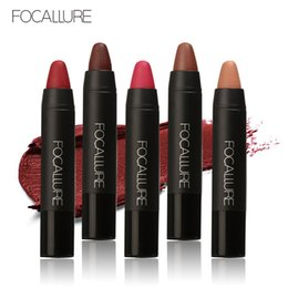 Free Shipping Lipstick Sexy NZ - Lipstick Matte Moisturizer Lipstick Pencil Waterproof Long Lasting Makeup Lips Women Sexy Beauty Cosmetics For Free Shipping