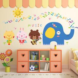 Cartoon Retail Australia - Retail 45*60cm new cartoon cartoon children's room kindergarten decoration cute animal note wall stickers