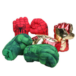spider man glove NZ - Avengers Endgame Superhero Figure Spider-Man Hulk Toy Iron Man Boxing Gloves Boy Gift Hulk Gloves