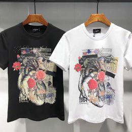 $enCountryForm.capitalKeyWord Australia - Summer new men's Chinese style peony squid round neck short-sleeved cotton T-shirt wild casual Slim bottoming shirt