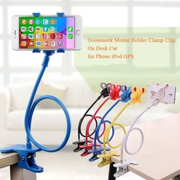 foldable phone holder stand 2020 - Lazy Shelf Bedside Mobile Phone Holder Clip For Smart Phone Adjustable Stand Holder Desk Long Bending Foldable Support c