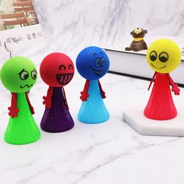Play mix online shopping - Funny Jumping Cat Toys Color Mix Mini Spirit Spring Dolls Child Desktop Bouncy Toy Fit Daily Playing by E1