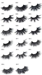 Individual False Eyelashes Sale Australia - Hot Sale 5D 25mm eyelashes 17 Styles Long Dramatic 25mm Long Thick eyeLashes Handmade False Eyelash Eye Makeup 2pcs=1pair=1box=1lot