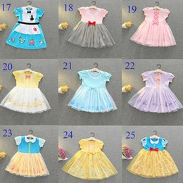 $enCountryForm.capitalKeyWord Australia - Baby Girls Tutu Designer Dresses Kids Belle Mario Summer INS Party Elegant Princess Agaric Lace Skirt Halloween Cosplay Costume 34 Colors