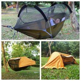 $enCountryForm.capitalKeyWord Australia - Mosquito Net Hammock 260*140cm Tarp Shelters Rainproof Sunscreen Outdoor Camping Fishing Flying Tent Hanging Bed 12pcs LJJO6199