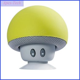 Free Mobile Player Australia - New Mini Speaker Bluetooth Mushroom Shape Loudspeaker Super Bass Stereo Subwoofer Music Player For iPhone Andriod Mobile Phone Free Ship