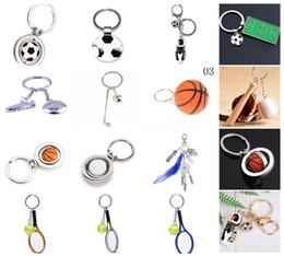 soccer shoes wholesale 2019 - 1Pcs Novelty Shoes Soccer Basketball Golf Tennis Keychains For Car Purse Bag Buckle Pendant Key Ring Festival Souvenir d