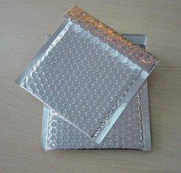 Silver Gift Wrapping Paper NZ - Bubble Envelope Mailer Silver&Gold Gift Phone Case Shockproof Packaging Bubble Envelope Bag Free Shipping 15*13cm 50pcs lot