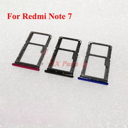 sim card tray for note NZ - For Xiaomi Redmi Note 7 SIM Card Tray Holder Micro SD Card Slot Holder Adapter Replacement Repair Part Black Blue Red