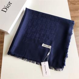 $enCountryForm.capitalKeyWord Australia - Brand new scarf high quality tiansi cotton luxury designer men's and women's autumn winter square 140*140cm smooth, soft and comfortable