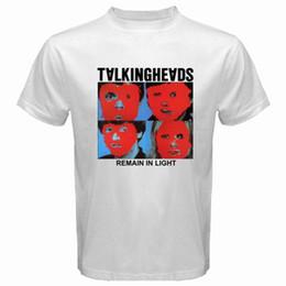 Lit Band NZ - New TALKING HEADS Remain in Light Rock Band Men's White T-Shirt Size S to 3XL Tee Shirt Summer Team Men Tee Shirt Short Sleeve Cotton Crossf