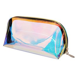 transparent bag for cosmetics Australia - SHUJIN Laser Deisgn Transparent Travel Bag Female Waterproof Jelly Bag PVC Cosmetic For Female Makeup 2019 Fashion