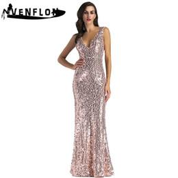 9cbcde7333e long sleeve maxi bridesmaids dress 2019 - Summer Dress Women 2019 Sexy Deep  V Neck Backless