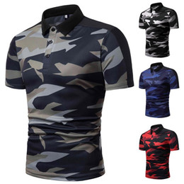 Contrast Collar polo online shopping - Collar Camouflage Men Polo Shirt Short sleeved Summer Tops Tees POLO Shirt Men Casual Fashion Style Slim fit