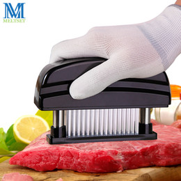 $enCountryForm.capitalKeyWord Australia - Professional 48pcs Needles Stainless Steel Meat Tenderizer Kitchen Cooking Tools Tender Meat Hammer
