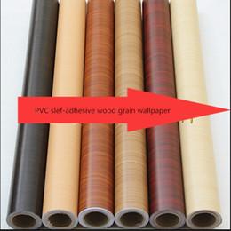 $enCountryForm.capitalKeyWord NZ - New 100m*90cm home decor Pvc wood grain thickening boeing film wallpaper kitchen cabinet wardrobe furniture stickers wooden door
