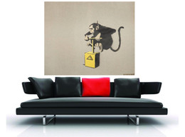graffiti art canvas prints Australia - Banksy Abstract Graffiti Art Oil Painting Animal MONKEY Handpainted & HD Print Wall Art On High Quality Canvas Home Decor Multi Size G185