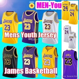 97a23f3c8c7 2019 New 23 James New Jersey 24 Kobe LeBron Bryant Los Angeles 8 Basketball  32 Embroidered Logo Jersey
