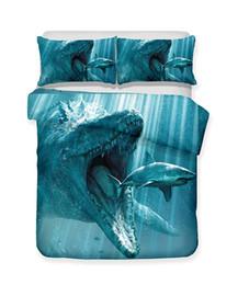 $enCountryForm.capitalKeyWord UK - Ferocious Shark Series The Shark About To Be EatenPattern 3D Lifelike Bedding Set Print Duvet Cover Doona Cover Set Bed linen Home Textiles