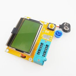 12864 lcd Canada - Portable HW308 ESR Meter Transistor Game Controllers & Joysticks Game Accessories Tester Digital 12864 LCD Screen Tester