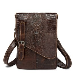 $enCountryForm.capitalKeyWord UK - vintage Crocodile briefcase Genuine alligator crazy cowhide Leather male Messenger Business Shoulder crossbody bag flap pocket #364939