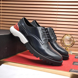 $enCountryForm.capitalKeyWord Australia - Derby Shoes Luxury Men's Shoes Fashion British Comfortable Leather Breathable Round Toe Thick Sole Lace Up Sneakers A Bi-Colour Sole Shoes