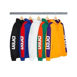 $enCountryForm.capitalKeyWord Australia - 19ss Box Logo Week5 Sideline Hooded Sweatshirt Men Women Letter Printed Couple Outfit Fashion Casual Street Outwear Solid Hoodies Streetwear