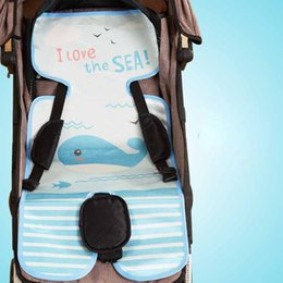 stroller mats UK - Summer Baby Stroller Mat Newborn Infant Straw Cooling Pad Sleeping Mat For Baby Prams Pushchairs Carts Accessories