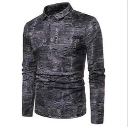Wholesale men contrast color suit for sale – dress Polos Mens Designer Hole Suit Fit Clothing Mens Long Sleeve Patchwork Casuak Polos Mens Contract Color