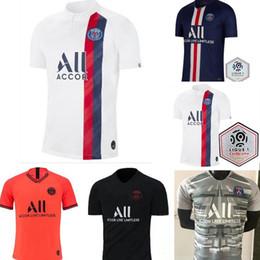 Lavender tops online shopping - 2019 PSG third maillot MBAPPE soccer jersey CAVANI VERRATTI top thailand paris football shirt KIMPEMBE Camiseta de futbol