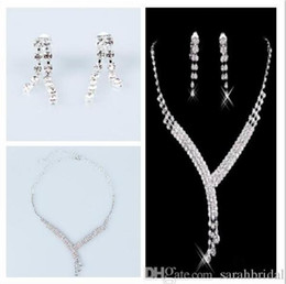 Cocktail Jewelry Sets Australia - cheapest high quality Jewelry Necklace Earring Set Cheap Wedding Bridal Prom Cocktail Evening Dresses Rhinestone In Stock Free Shipping