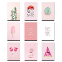 Modular hoMes online shopping - Poster Wall Art Modular Lollipop Donut Home Decor Letters Nordic Style Canvas Prints Painting Pictures For Bedside Background