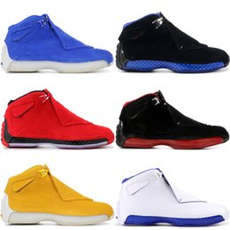 Discount grey suede shoes men - 18 18S Men Basketball Shoes Countdown Pack 2018 Release Blue Red Yeelow Orange Suede Sport Designer Shoes Sneakers 8-13