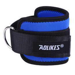 Support Strap Australia - 1pc Fitness Adjustable D Ring Ankle Strap Support Leg Pulley Feet Guard