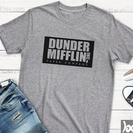buy popular 90c36 3b335 The Office T Shirt Women Dunder Mifflin Inc Paper Company Wernham Hogg Tv  Show Michael Scott Space Tshirt Cotton Causal Tops C19041702